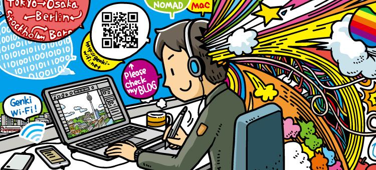 大阪府堺市の「モバイルモール」に、<br />当ブログのイラスト(大阪Ver.)が! イラストレーション ブログ