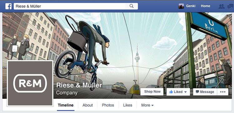 独リーズ&ミューラー社のFacebookページに  僕のイラストが使われています!