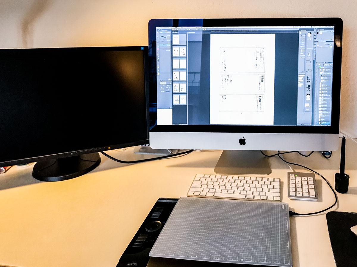 【iMac最強!】現在の僕のイラスト/マンガ制作環境を紹介します① 〜メインマシン編〜|リモートワーク Mac
