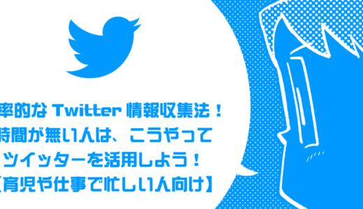 効率的なTwitter情報収集法! 時間が無い人は、こうやってツイッターを活用しよう!【育児や仕事で忙しい人向け】