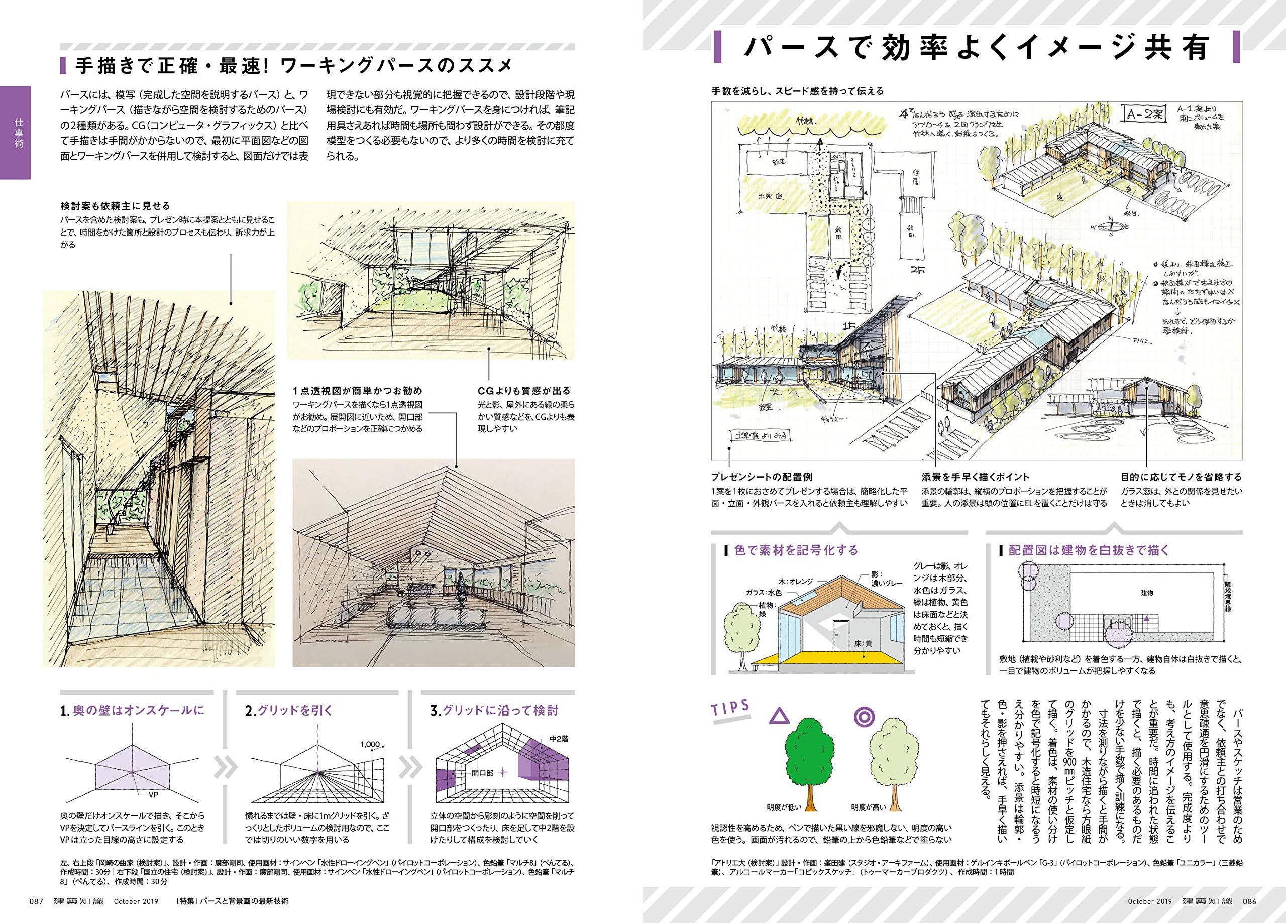 背景を上手くなりたいイラストレーターは、『建築知識』2019年10月号を読もう! 【背景|風景|パース|イラスト】 イラストの描きかた イラストレーション