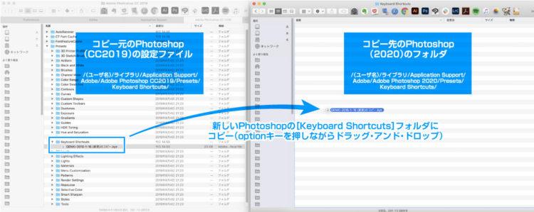 古いPhotoshopから新しいPhotoshopへキーボードショートカットを移行する方法【Mac|同期|設定|コピー】 Mac